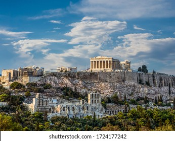 Parthenon, Acropolis of Athens, an Architectural Masterpiecean, the symbol of Greece, Under Beautiful Blue Sky