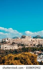 The Parthenon at the acropolis of Athens, Greece