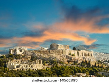 Parthenon Acropolis in Athens  Greece