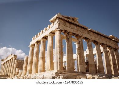 Parthenon and Acropolis view