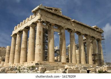 The Parthenon atop Acropolis in Athens, Greece