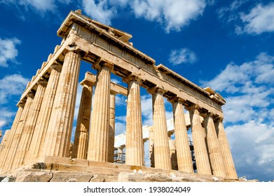 The Parthenon is a former temple on the Athenian Acropolis, Greece, dedicated to the goddess Athena, whom the people of Athens considered their patron.