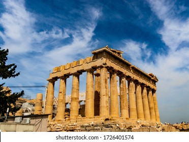 the Parthenon is the main temple of the Acropolis of Athens