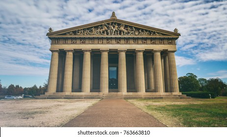 The Parthenon in Nashville, Tennessee. A full-sized replica of the original Parthenon in Athens, built in 1897 for the Tennessee Centennial Exposition.