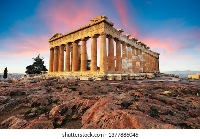 Parthenon on Acropolis, Athens, Greece. Nobody
