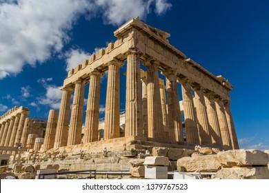 Parthenon on the Acropolis in Athens, Greece.