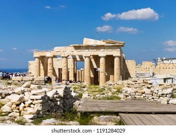 Parthenon temple in Acropolis in Athens