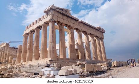 Parthenon temple. Acropolis in Athens, Greece