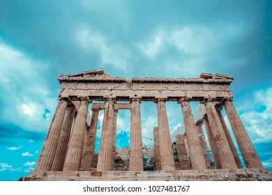 Parthenon temple in Acropolis of Athens, Greece