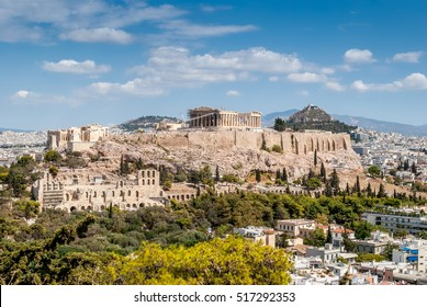 Parthenon temple in the Acropolis of Athens, Greece