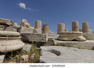Parthenon temple in Acropolis in Athens, Greece.