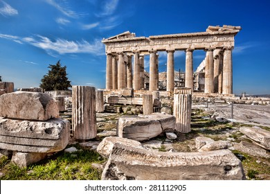 Parthenon temple on the Acropolis in Athens, Greece