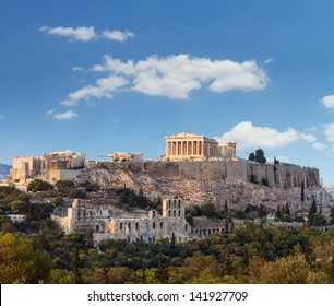 Parthenon, temple on the Athenian Acropolis, dedicated to the maiden goddess Athena