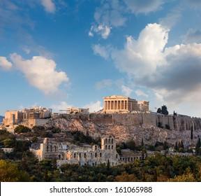 Parthenon temple on Athenian Acropolis, Athens, Greece