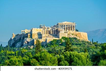Parthenon, temple on the Athenian Acropolis, dedicated to the maiden goddess Athena