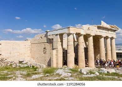Parthenon temple on summer day, Acropolis in Athens
