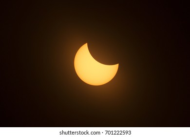 Partial phase of the 2017 Great American Solar Eclipse.