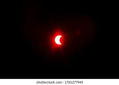 A partial solar eclipse is seen in Bangkok Thailand