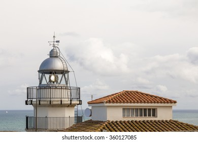 partial view of the lighthouse of Peniscola