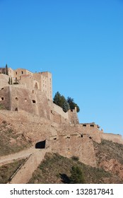 Partial view of one of the side walls of the Castle of Cardona, Catalonia, Spain