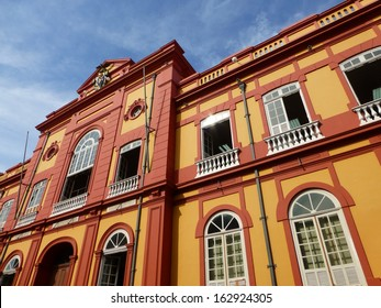 Partial view of the public library in Manaus founded in 1870. Amazonas, Brazil
