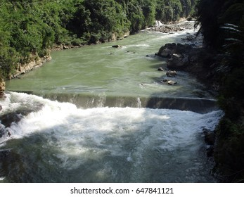 Partial View of Tlawang River in Mizoram State. This is the longest river in the state.