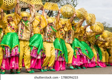 Participants in the grandest Sinulog festival in Cebu, Philippines on January 19, 2020.  Contingent dance to the rhythm of drums and bugles to honor the Holy Child Jesus Sto. Nino de Cebu.