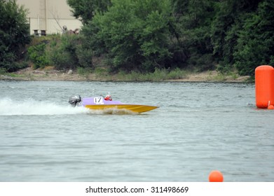 Participant(s) of the international speed boat championship at May 24, 2009 in Dunaujvaros, Hungary.