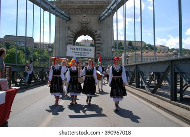 Participant(s) of the traditional Danube carnival at June 21, 2008 in Budapest, Hungary.