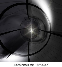 A Particle collision in the Large Hadron Particle Accelerator.