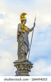 A particular of Athena Fountain (Pallas-Athene-Brun nen) in front of Austrian Parliament Building. Figures symbolize most important rivers of the Austro-Hungarian Empire. It was completed in 1902.
