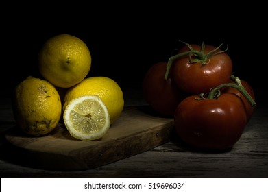 Particular tecnique of use the dramatic Caravaggio's light for still life