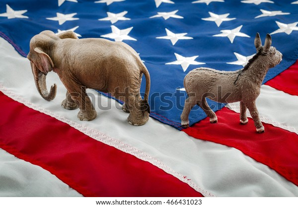 Partisan politics of the democrats and republicans are creating a lack of bipartisan consensus. In American politics US parties are represented by either the democrat donkey or republican elephant