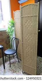 Partition screen in front of toilets at local village bar, Andalusia