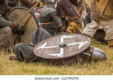 Partizanska Lupca , SLOVAKIA-JUNE 30,2018: Utgard - Early Medieval Festival. Editorial.