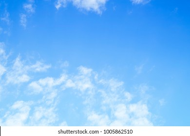 Partly cloud sky, beautiful light and soft white clouds and  blue sky with space for product montage. Nature background