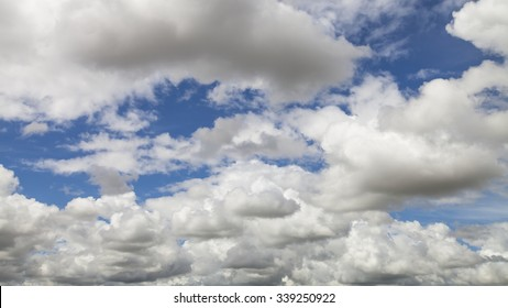 Partly Cloudy on blue sky background in summer.