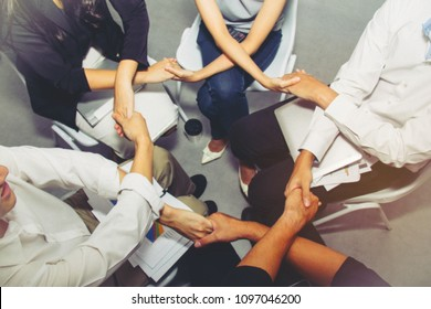 Partnership Business Team Concept : Blurring, Fist Business Matchmaking, Collision Partners, Successful Partners : Soft focus and blurry background