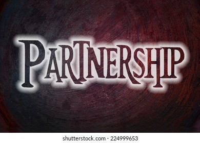 Partnership Concept text on background