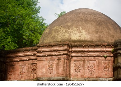 Parts of an ancient mosque building isolated unique photo