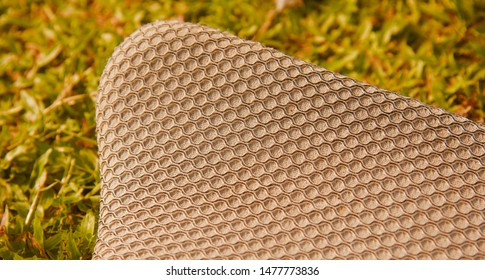 Parts of a cricket thigh pads isolated object photo