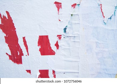 Parts of existing images, abstract contemporary urban paper collage, vintage retro old ripped torn poster