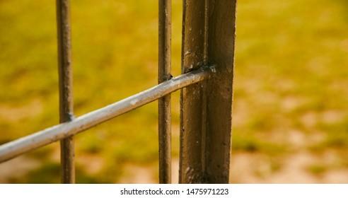 Parts of a metallic structure unique photo