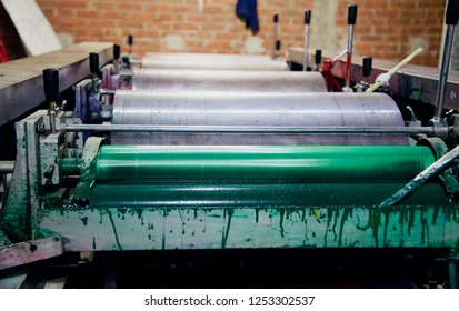 Parts of a printing machine isolated unique photo