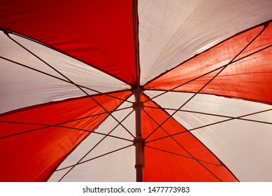 Parts of a traditional umbrella isolated object photo