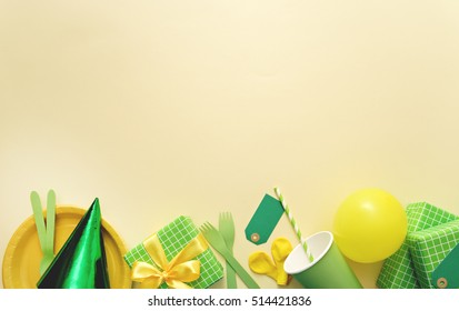 party background with party accessories