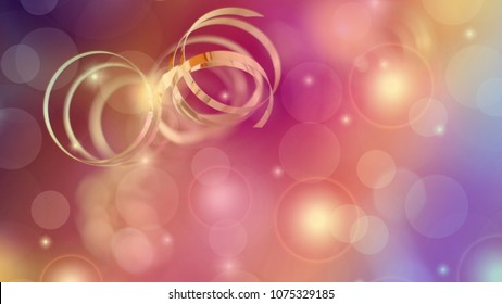 Party Background with colorful lights and serpentine