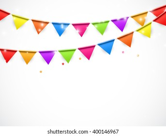 Party Background with Flags Illustration.