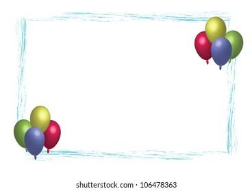 Party balloon frame