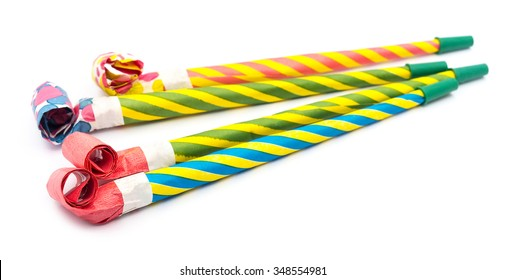 Party blower on white
